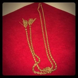 Iced Gold Lariat Necklace
